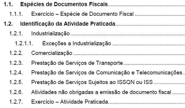 CURSO DE EMISSÃO DE NOTA FISCAL ELETRÔNICA