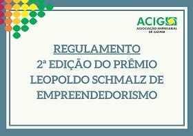 Lançado regulamento da 2ª edição do Prêmio Leopoldo Schmalz de Empreendedorismo