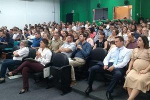 1ª Conferência Conexão SC-PE lota auditório do IFSC em Gaspar