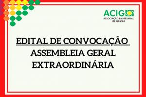 Edital de Convocação para Assembleia Geral Extraordinária